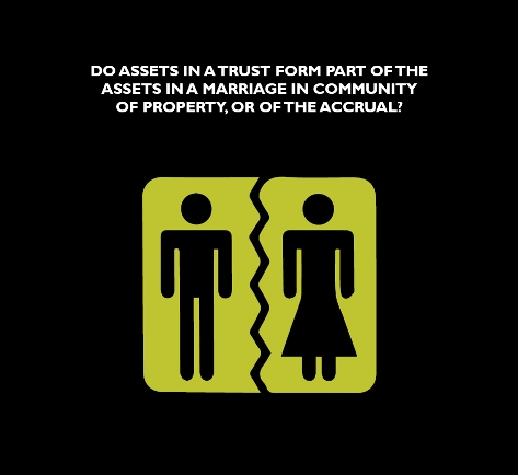 DO ASSETS IN A TRUST FORM PART OF THE ASSETS IN A MARRIAGE